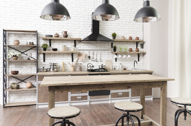 køkken lavet af en murer
